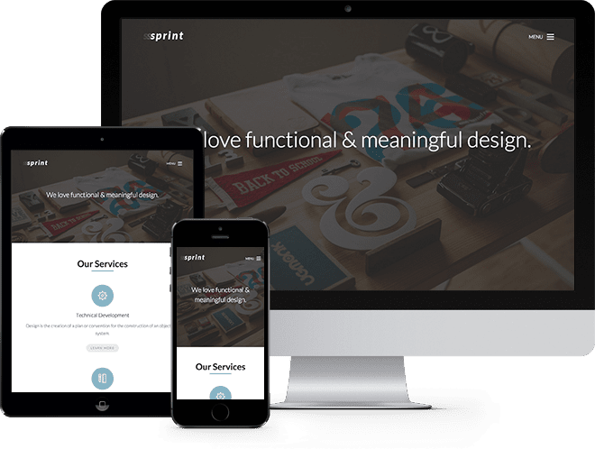 Sprint: Free HTML5 Template using Bootstrap