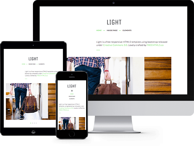 Light: Free HTML5 Template Bootstrap
