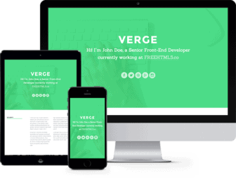 Verge: Free HTML5 Bootstrap Template