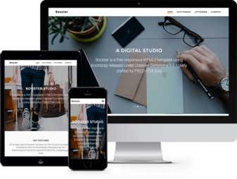 Booster Free HTML5 Bootstrap Template