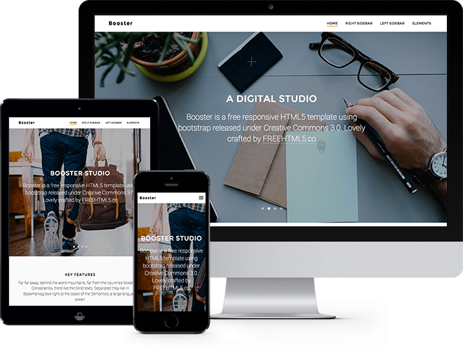 Booster: Free HTML5 Bootstrap Template