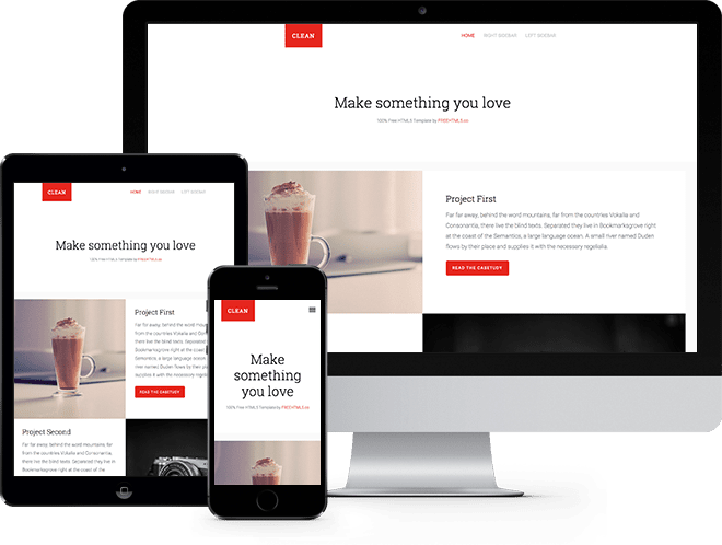 Clean Free HTML5 Bootstrap Template