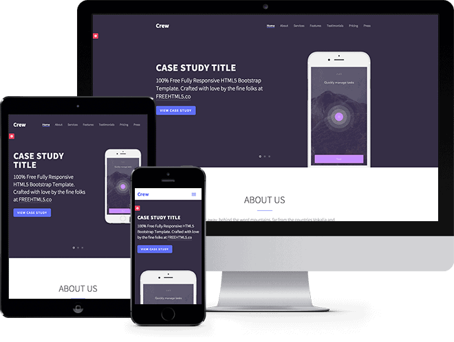 Crew  Free HTML5 Bootstrap Template   Free Responsive HTML5 Template HsaaXu3G