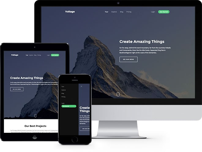 Voltage Free HTML5 Bootstrap Template - FreeHTML5.co