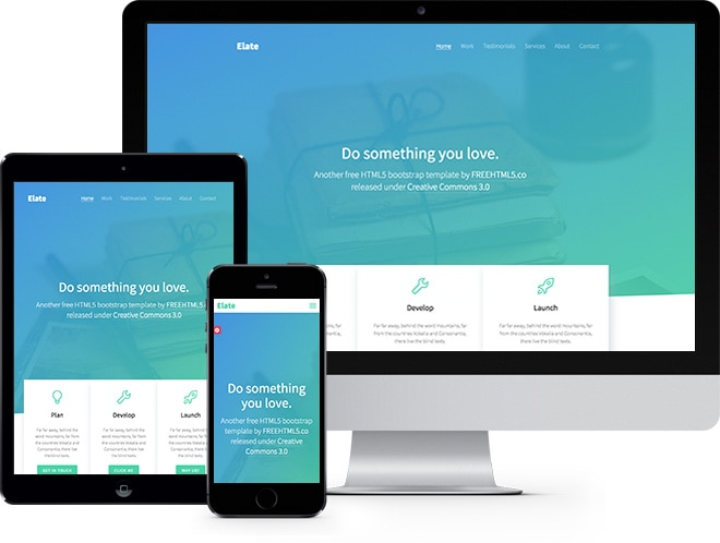 Elate free html5 bootstrap template for Free website templates html5