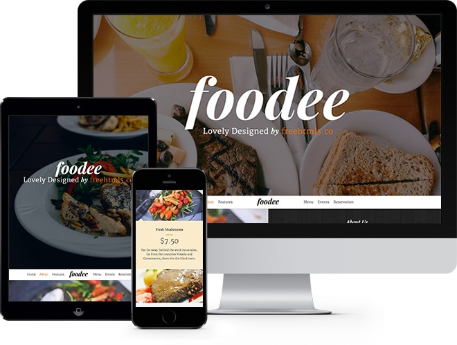 Foodee: Restaurants Free HTML5 Bootstrap Template