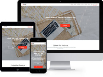 Union Onepage Free HTML5 Bootstrap Template