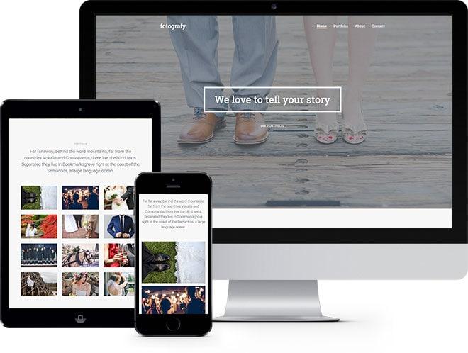 Fotografy Free HTML5 Bootstrap Template
