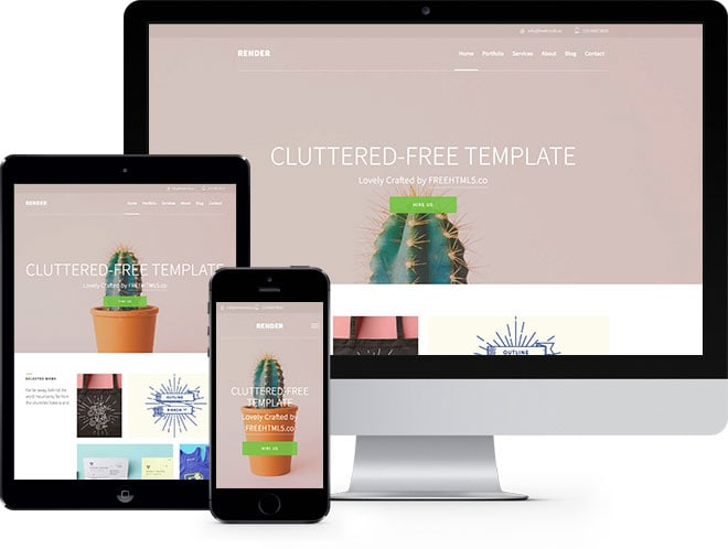 Render free html5 bootstrap template for Free website templates html5