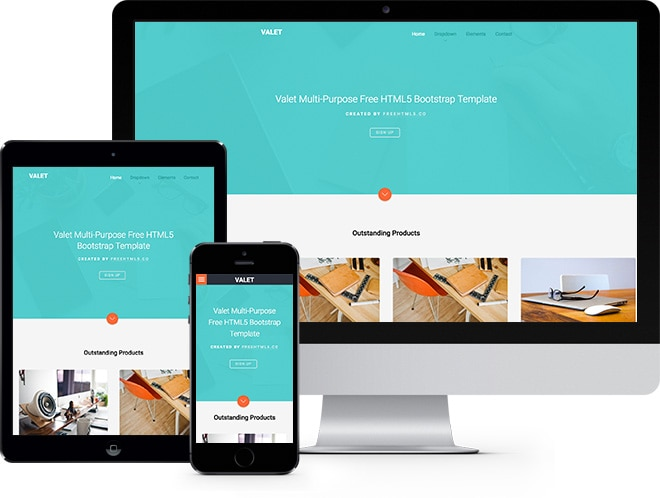 Valet Free HTML5 Bootstrap Template