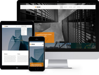Beam Free Website Template Using Bootstrap