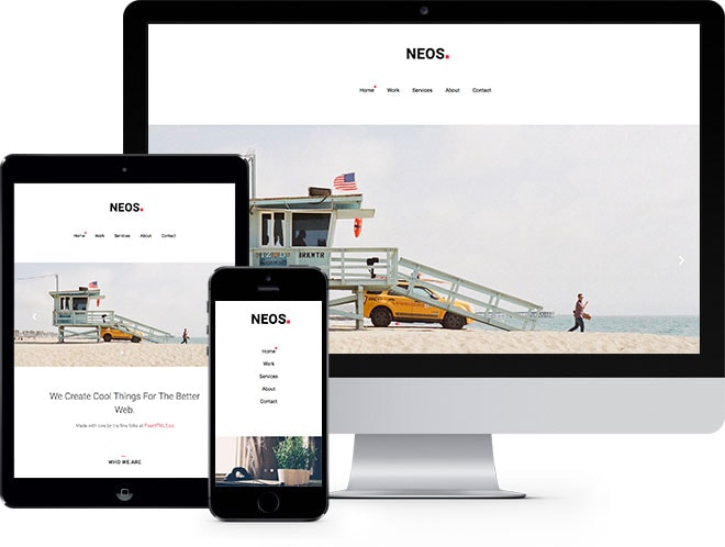 Neos: Free Website Template Using Bootstrap - Free Responsive HTML5 Template