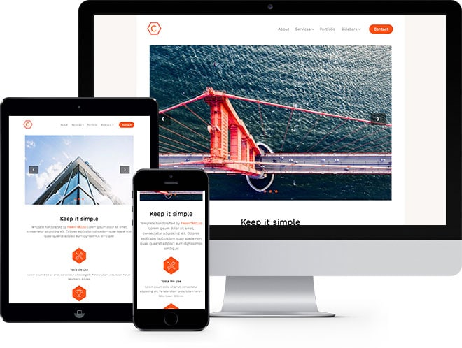 Cache: Free HTML5 Bootstrap Template - Free Responsive HTML5 Template