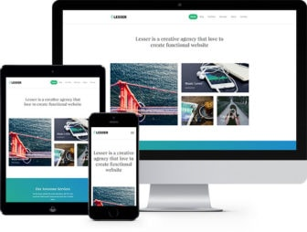 Lesser Free HTML5 Bootstrap Template