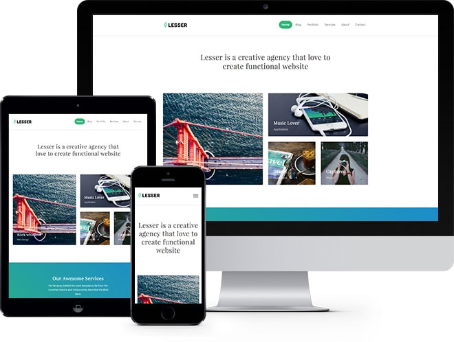 Lesser: Free HTML5 Bootstrap Template - Free Responsive HTML5 Template