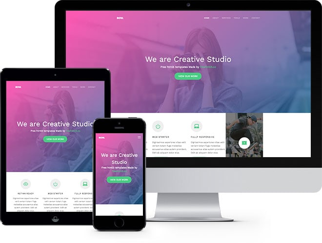 Bow Free HTML5 Bootstrap Template for Starups