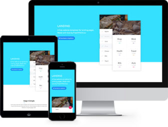Landing Free Website Template Using Bootstrap