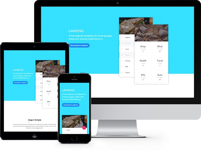 Landing: Free Website Template Using Bootstrap - Free Responsive HTML5 Template