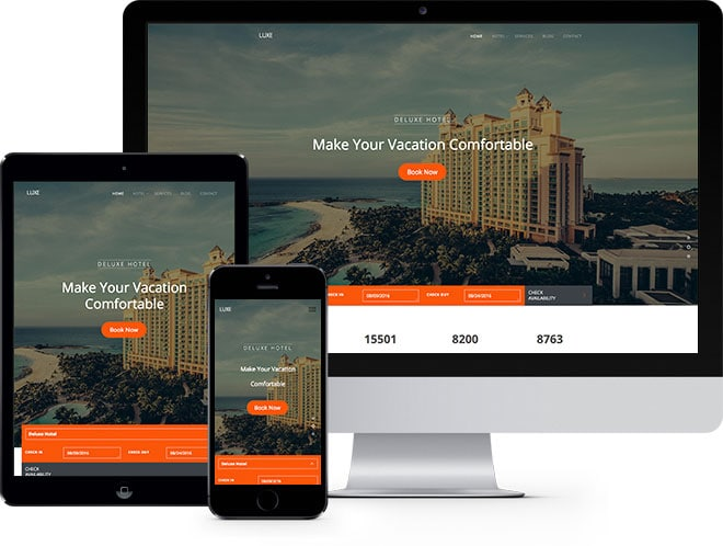 Luxe Free HTML5 Bootstrap Template for Hotel Website