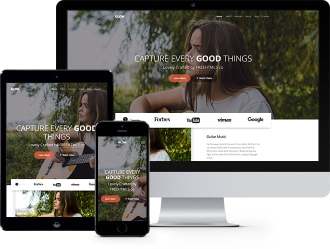 Glow: Free HTML5 Bootstrap Template Multi-purpose Website Template - Free Responsive HTML5 Template