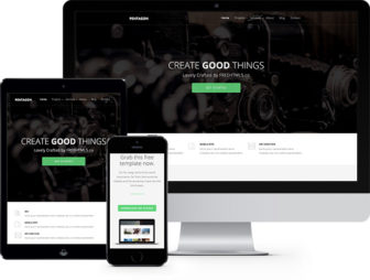 Pentagon Free HTML5 Bootstrap Template, Multi-purpose Template