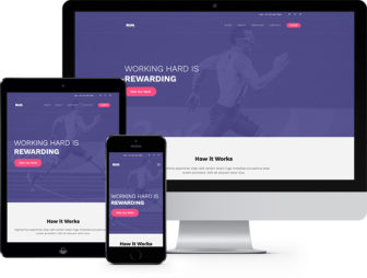 Run Free Website Template for Portfolio Websites