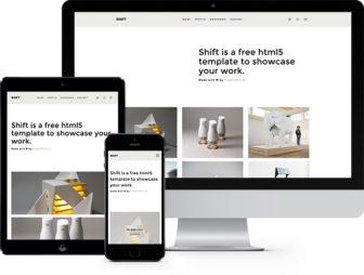 Shift Free HTML5 Bootstrap Template for Portfolio