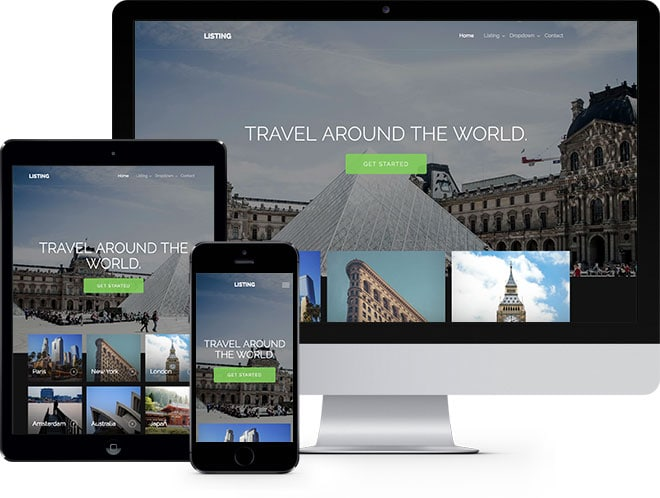 Listing: Free HTML5 Bootstrap Template for Travel and Hotel Websites - Free Responsive HTML5 Template