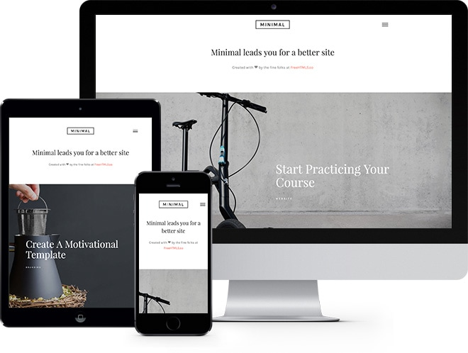 Minimal Free HTML5 Bootstrap Template