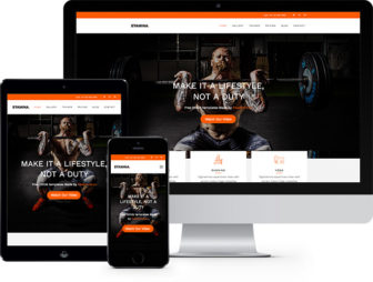 Stamina Free HTML5 Bootstrap Template for Fitness Websites