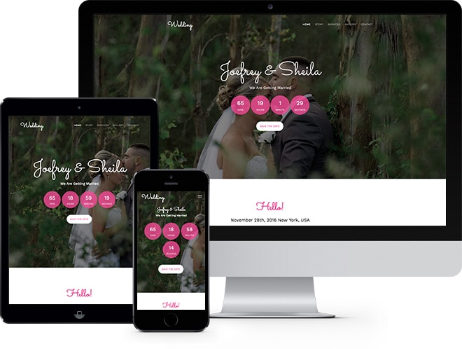 Wedding Free HTML5 Bootstrap Template for Wedding Websites