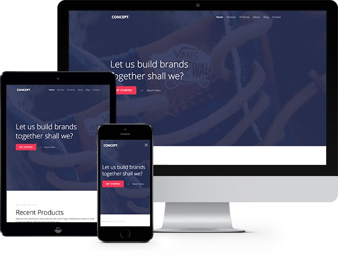 Concept Free HTML5 Bootstrap Template for Corporate Websites