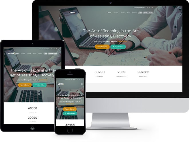 Lean Free Website Template Using Bootstrap