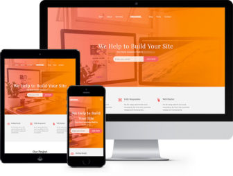 Orange Free HTML5 Bootstrap Template