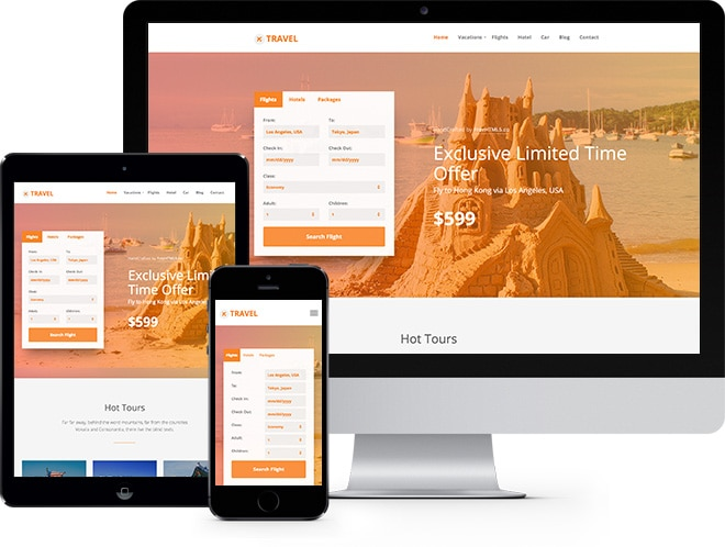 travel free html5 bootstrap template for travel agency