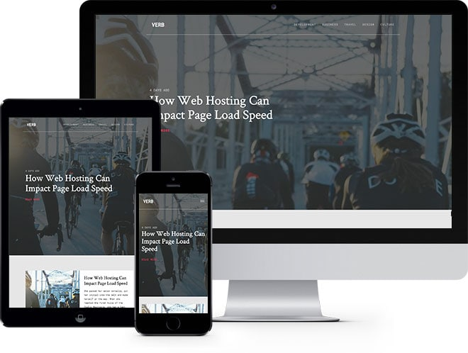 Verb: Free HTML5 Bootstrap Template for Blog Websites - Free Responsive HTML5 Template