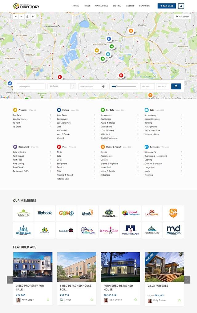 Directory -  Multipurpose Wordpress Theme