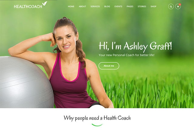 Health Coach: WP Theme for Building any Life Coach Website