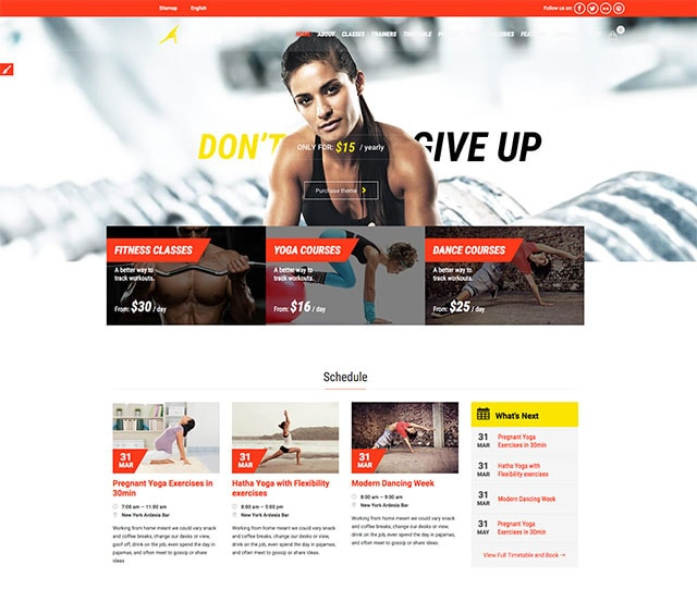 Gym & Fit - Theme for Fitness Gym and Fitness Centers