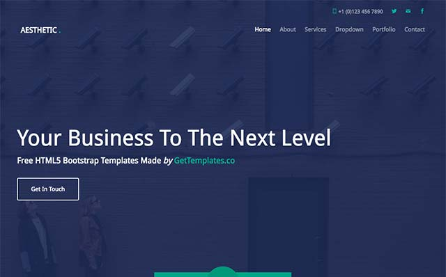 Aesthetic: Free Website Template Using Bootstrap - Free Responsive HTML5 Template