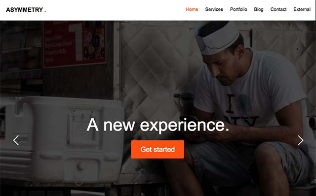 Asymmetry: Free HTML5 Bootstrap Template for Portfolio - Free Responsive HTML5 Template