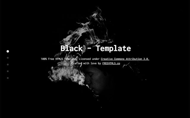 Black: One Page Free HTML5 Bootstrap Template for Landing Pages - Free Responsive HTML5 Template
