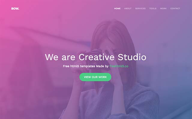 Bow: Free HTML5 Bootstrap Template - Free Responsive HTML5 Template