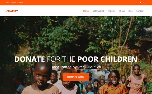 Charity: Free Website Template Using Bootstrap for Non-profit Websites - Free Responsive HTML5 Template