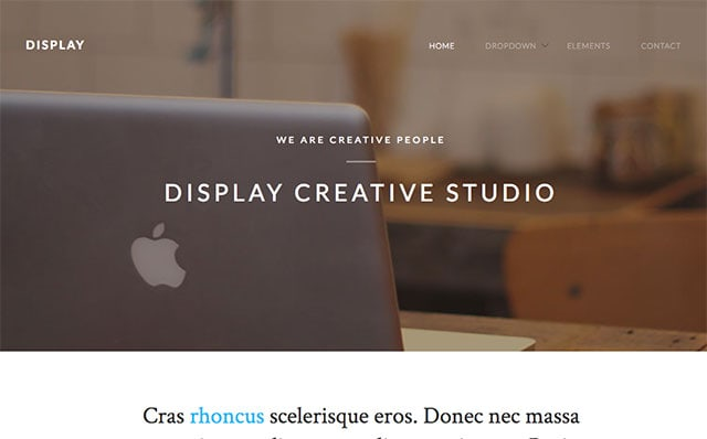 Display: Free HTML5 Template using Bootstrap - Free Responsive HTML5 Template