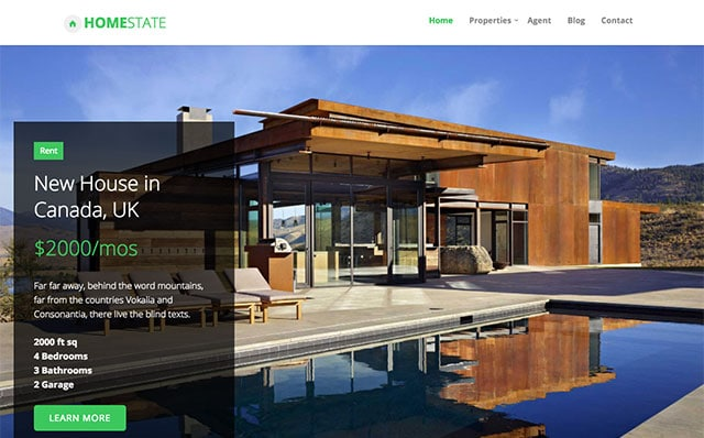 Homestate: Free HTML5 Bootstrap Real Estate Template - Free Responsive HTML5 Template