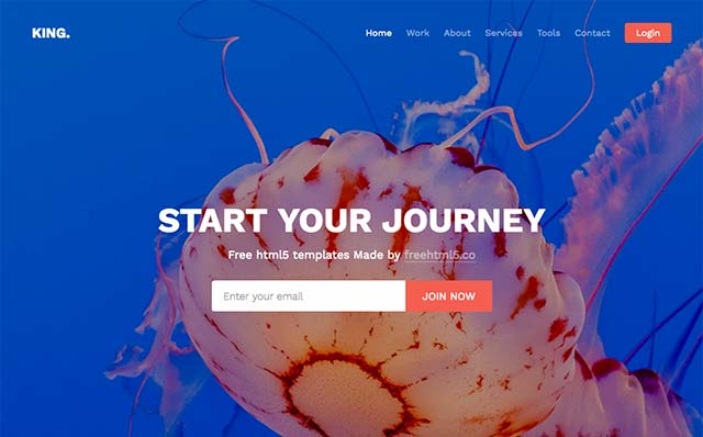 King: Free Website Template Using Bootstrap for Portfolio and Landing Pages - Free Responsive HTML5 Template