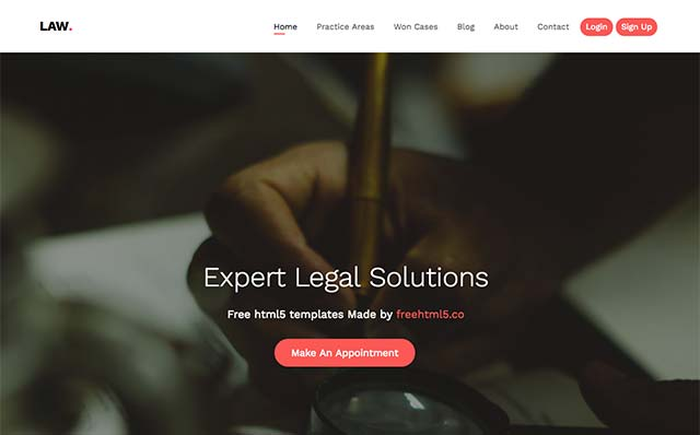 Law: Free HTML5 Bootstrap Template for Law Firm Websites - Free Responsive HTML5 Template