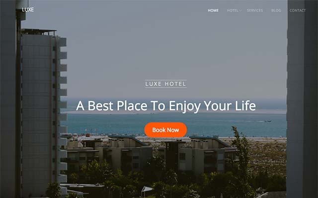 Luxe: Free HTML5 Bootstrap Template for Hotel Website - Free Responsive HTML5 Template
