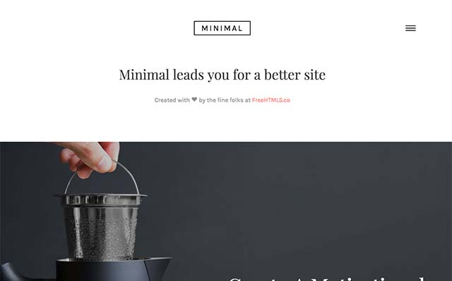 Minimal: Free HTML5 Bootstrap Template for Any Type of Websites - Free Responsive HTML5 Template